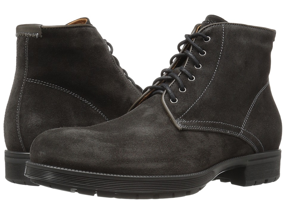 Aquatalia - Harvey (Charcoal Waxy Suede) Men's Shoes