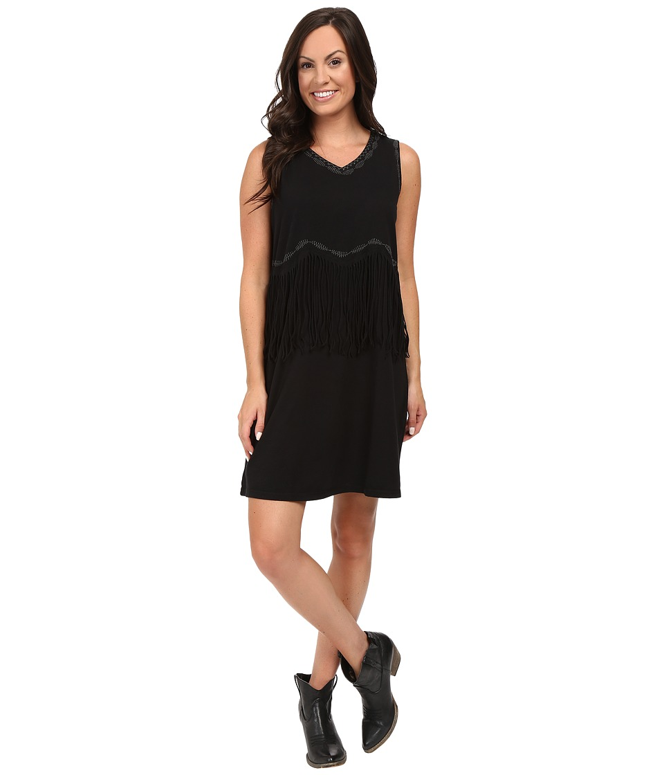 Double D Ranchwear - Franja Dress (Black) Women's Dress