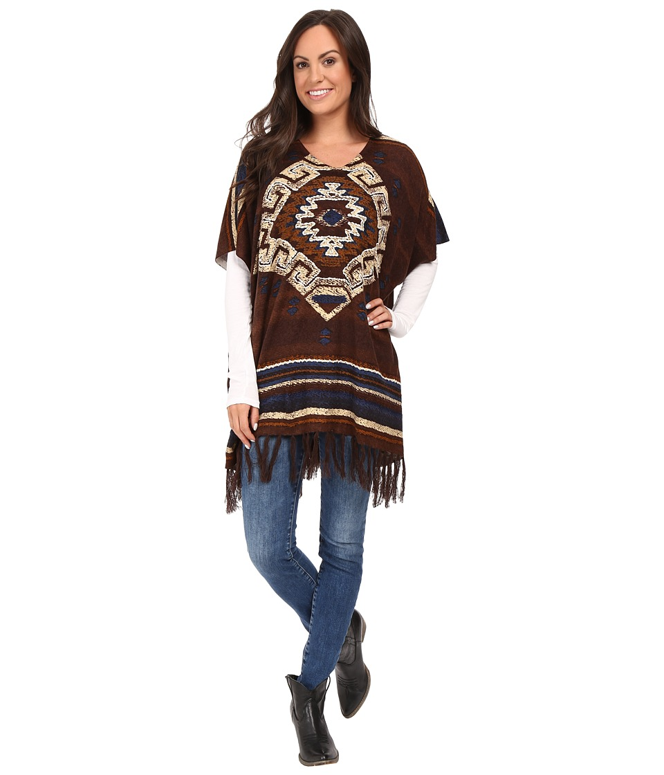 Double D Ranchwear - La Serena Poncho (Multi) Women's Coat