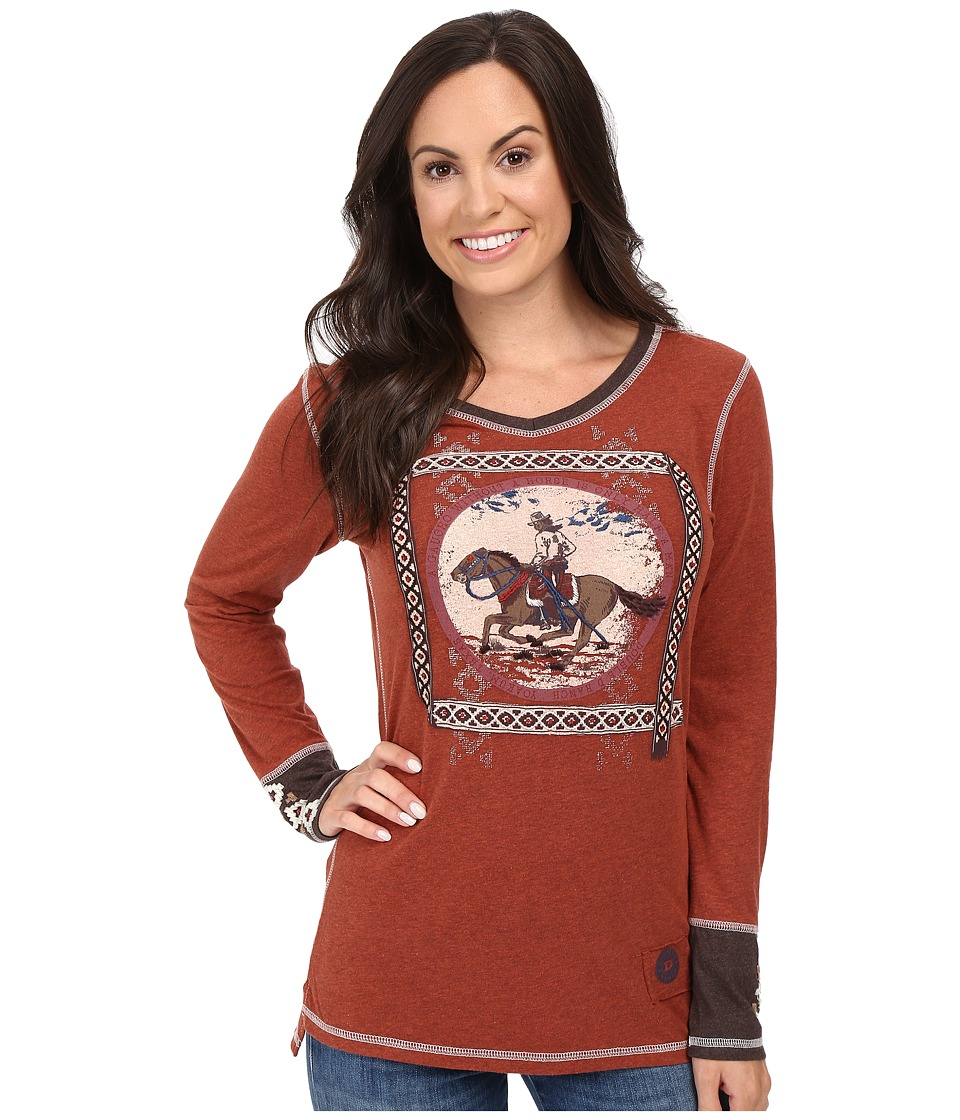 Double D Ranchwear - Gaucho and His Horse Tee (Spitfire) Women's T Shirt
