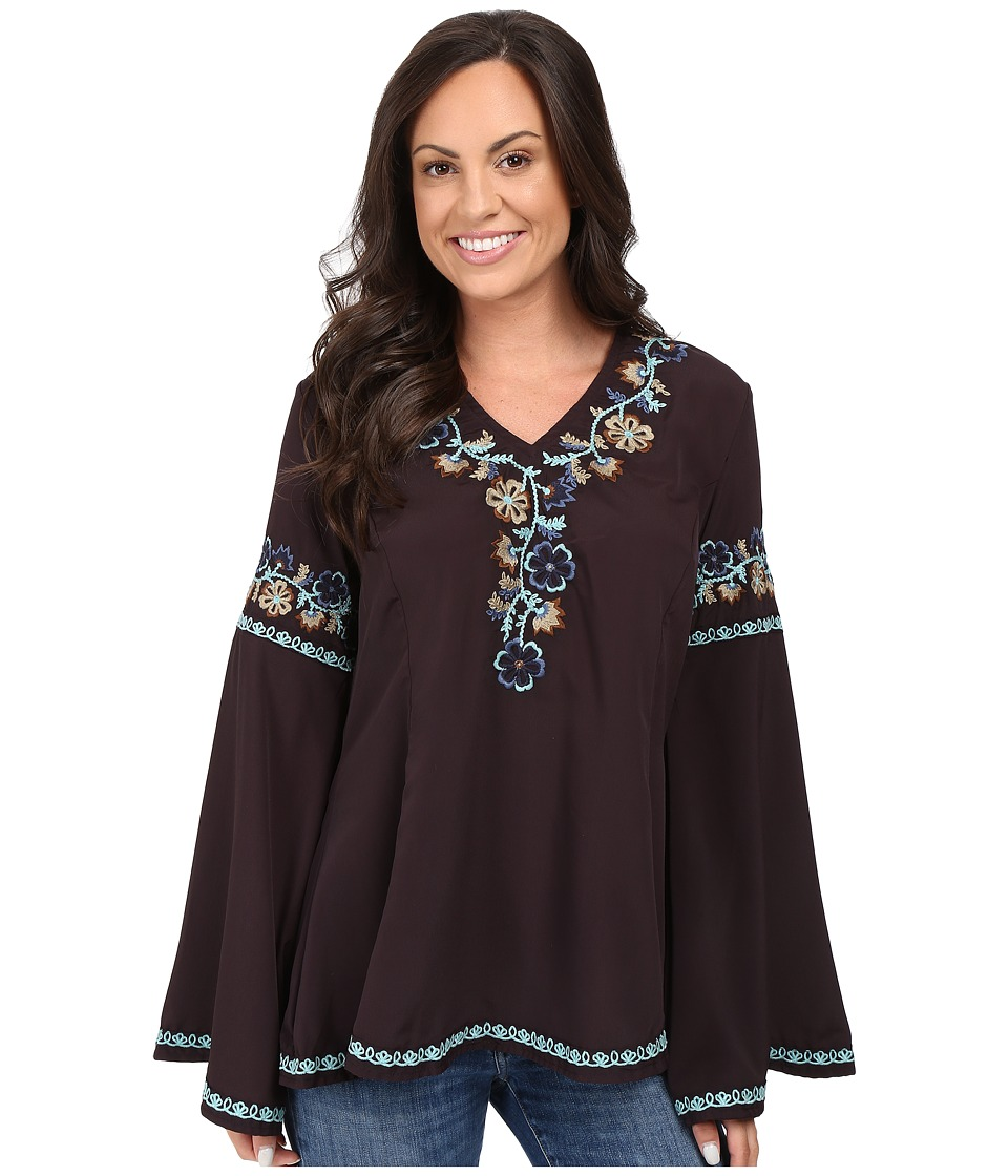Double D Ranchwear - Flor de Card Top (Dark Tierra) Women's Clothing