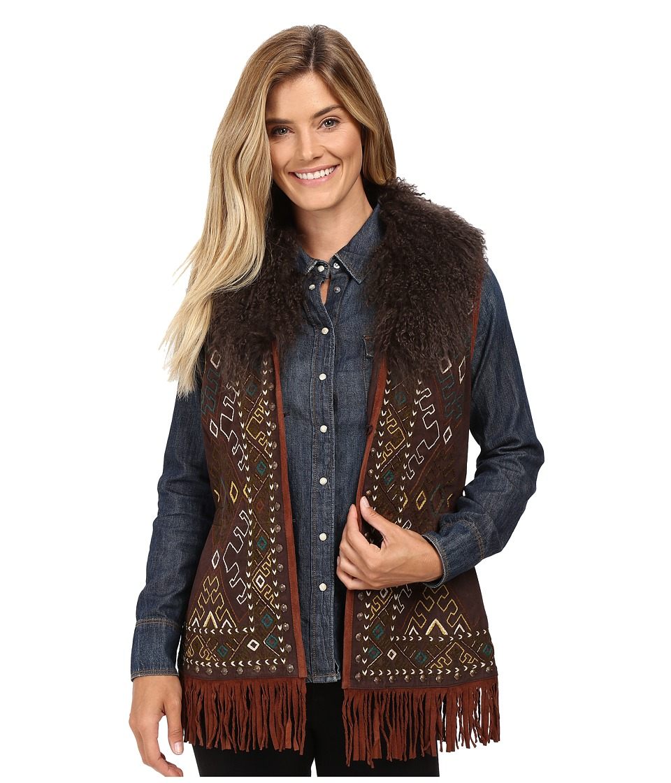 Double D Ranchwear - Cordero Rizado Vest (Dark Tierra) Women's Vest