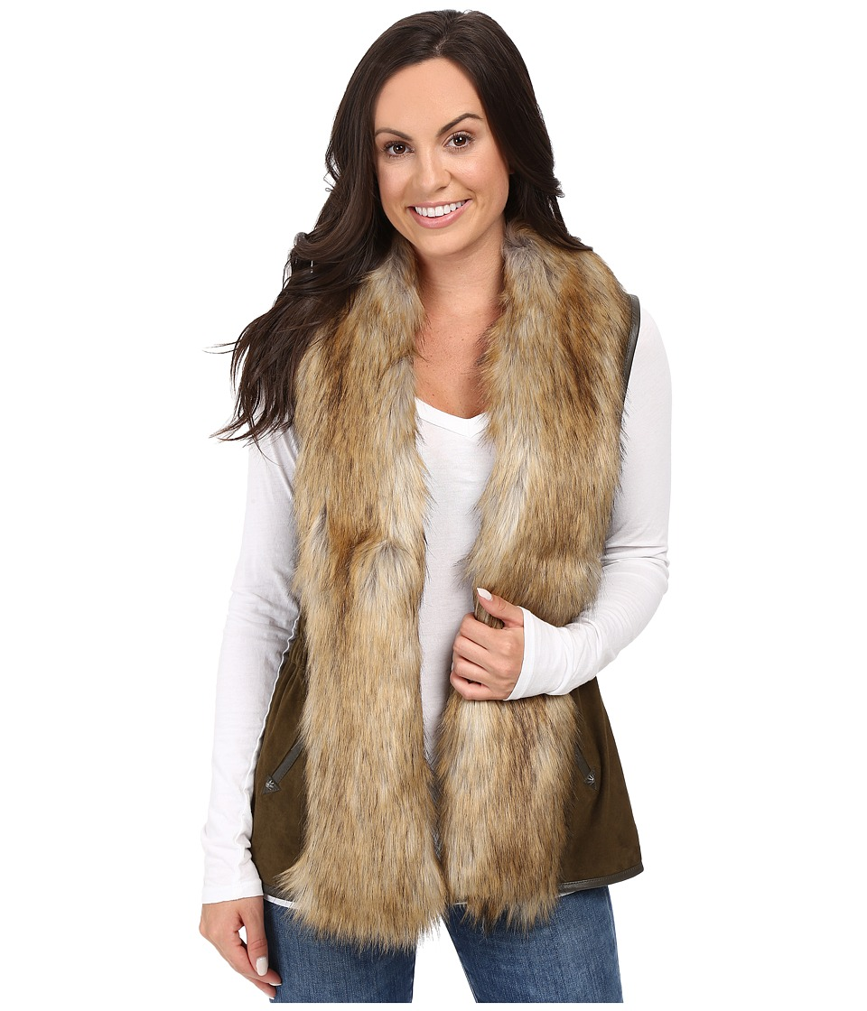 Double D Ranchwear - Hondo Vest (Olive/Natural) Women's Vest