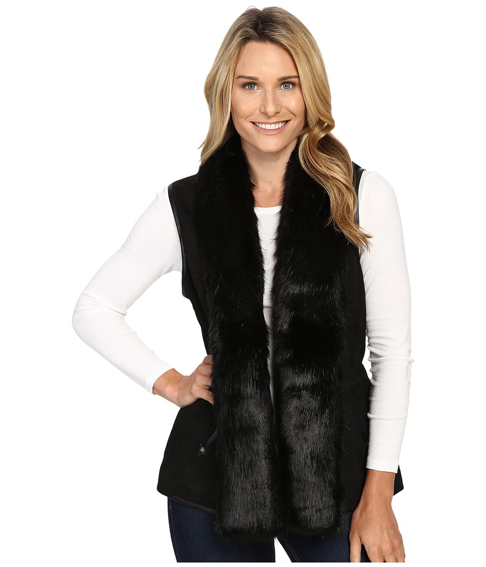 Double D Ranchwear - Hondo Vest (Black/Black) Women's Vest