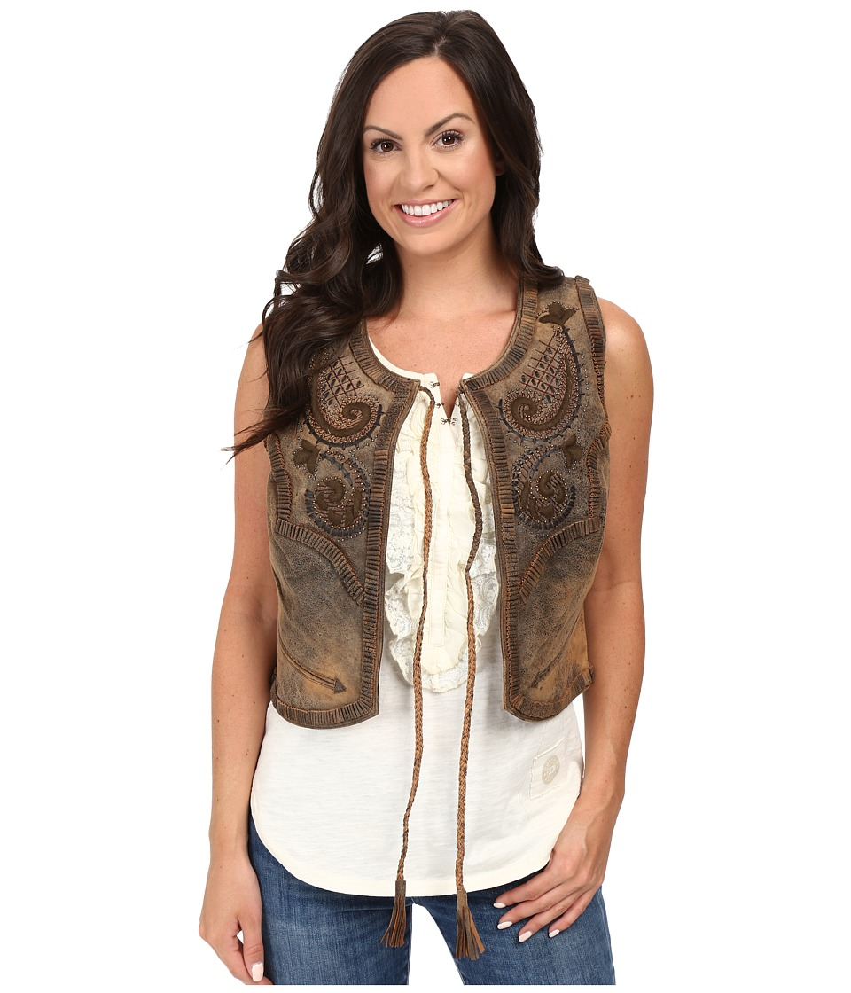 Double D Ranchwear - Bianchi Saddle Bag Vest (Brown) Women's Vest