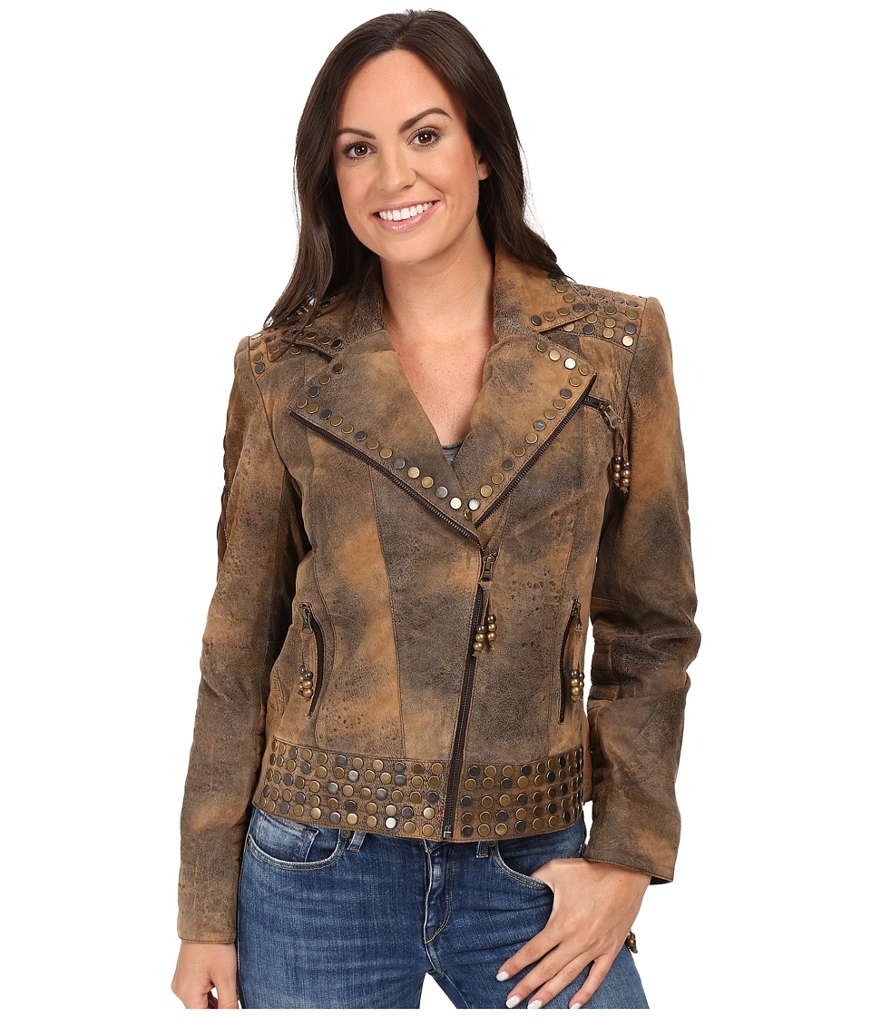Double D Ranchwear - Zuniga Skull Jacket (Brown) Women's Coat