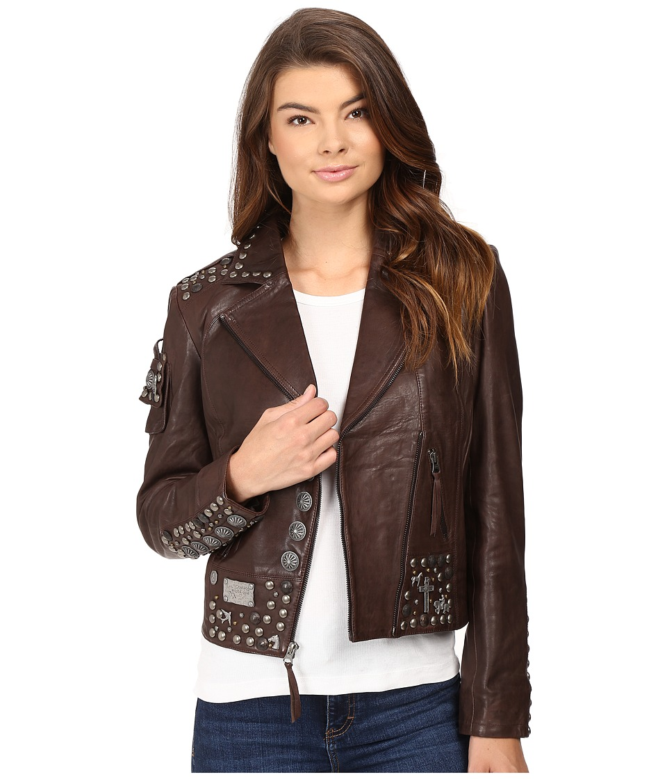 Double D Ranchwear - Benitez Biker Jacket (Dark Tierra) Women's Coat