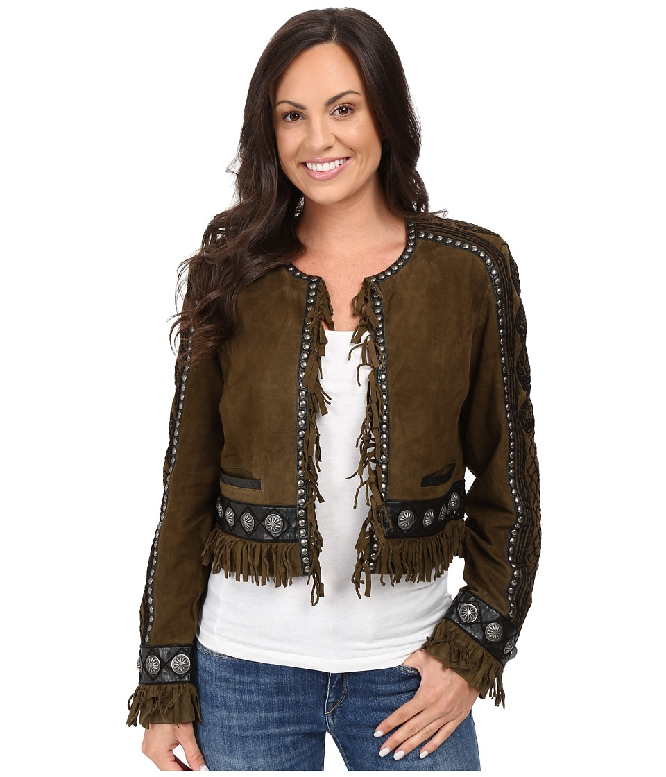 Double D Ranchwear - Rio Cuarto Jacket (Olive) Women's Coat
