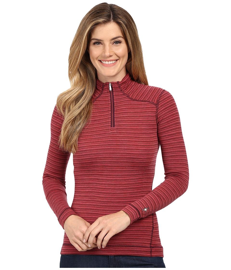 Smartwool NTS Mid 250 Pattern Zip Top (Hibiscus) Women