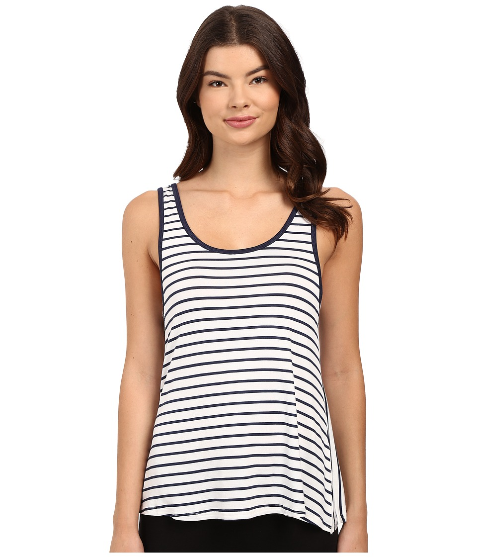 Splendid - Mesh Trim Tank Top (Thin Stripe) Women's Pajama