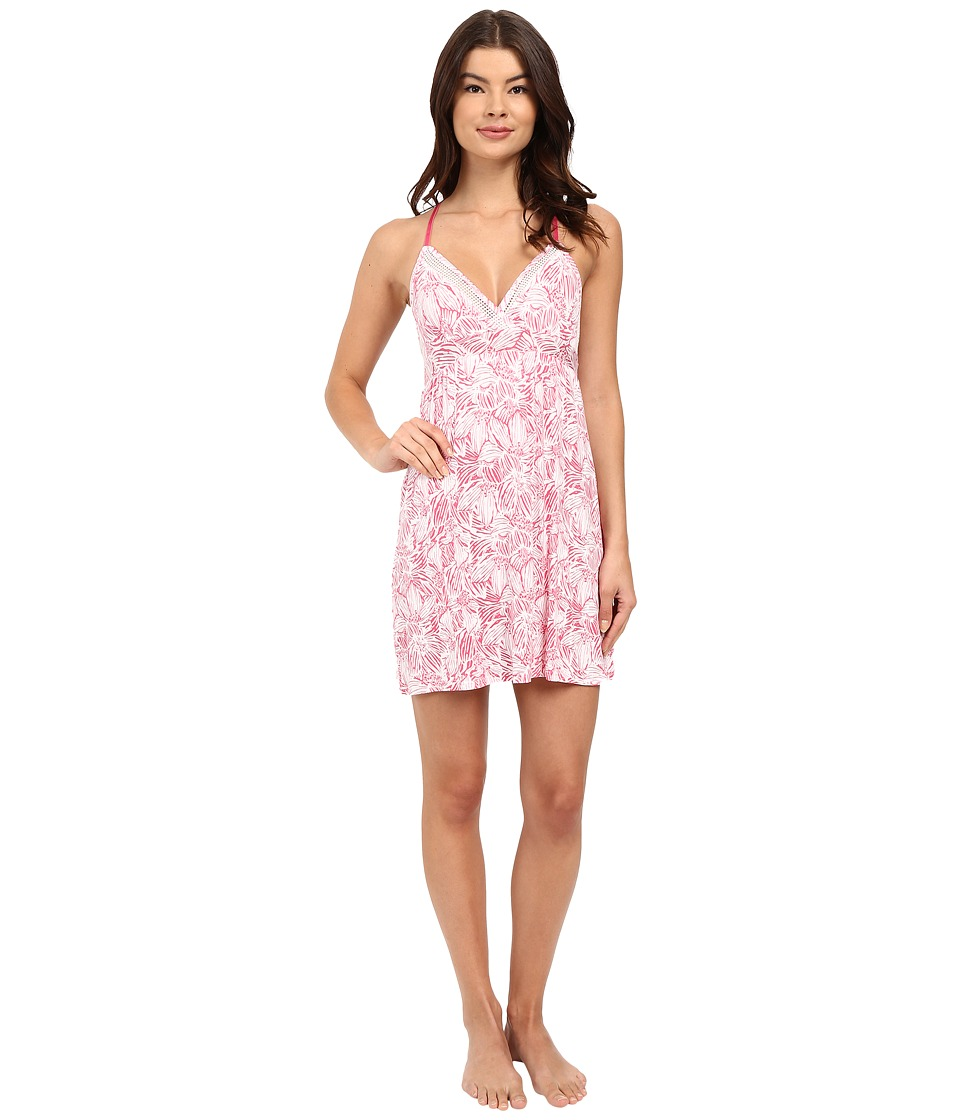 Splendid - Mesh Trim Chemise (Tropical Sketchy Floral) Women's Pajama