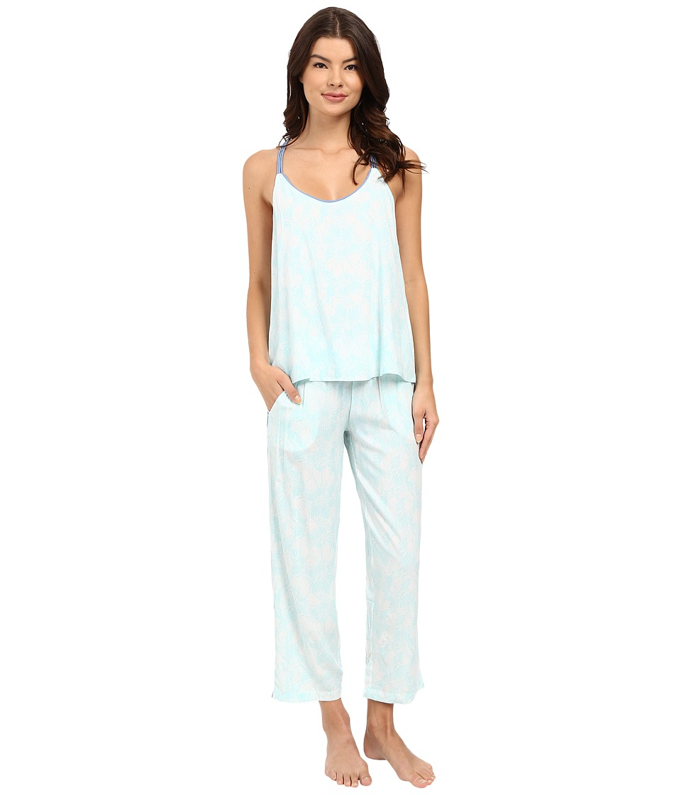 Splendid - Woven Pajama Set (Tropical Splash Floral) Women's Pajama Sets