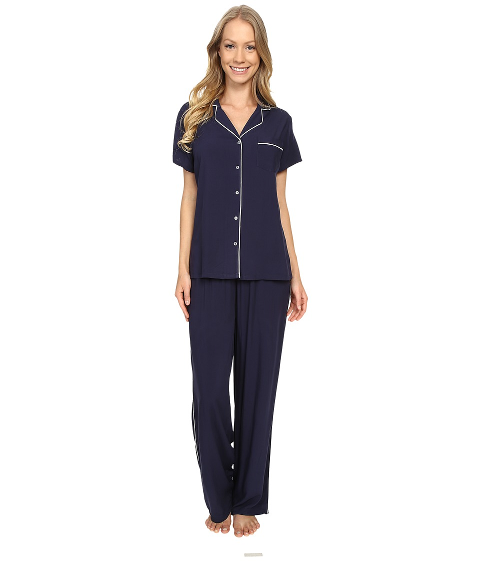 Splendid - Voile PJ Set (Navy Iris) Women's Pajama Sets
