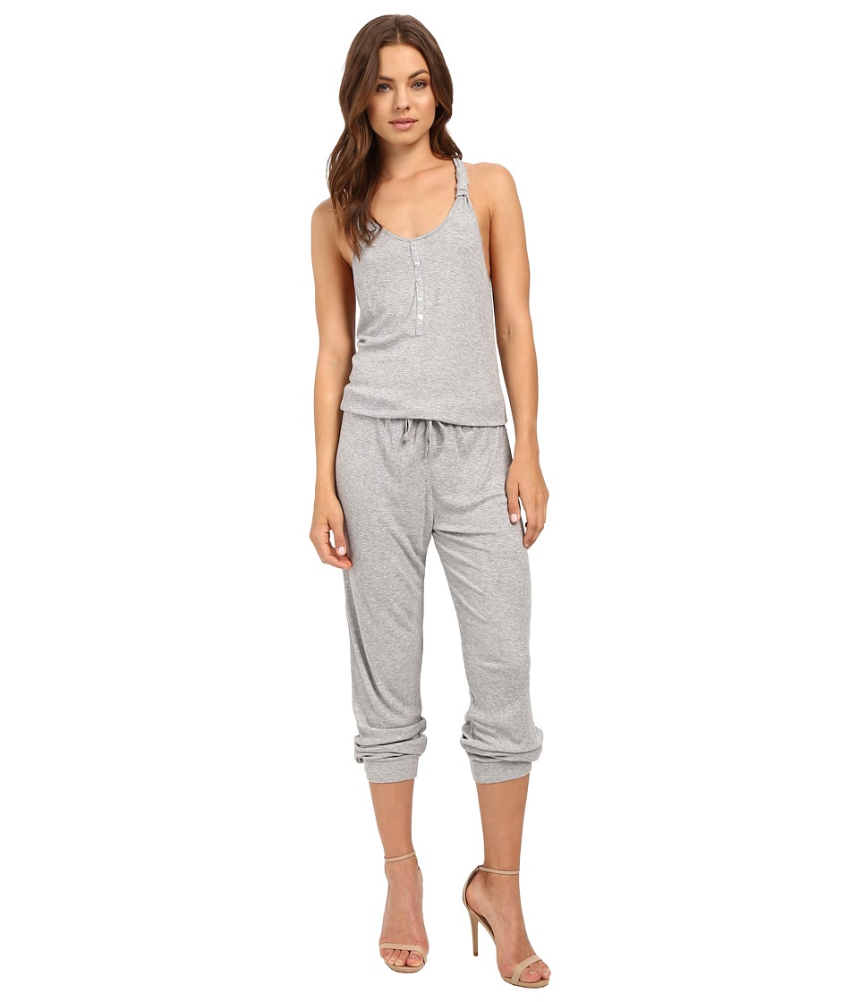 Splendid - Knotted Romper (Light Heather Grey) Women's Pajama