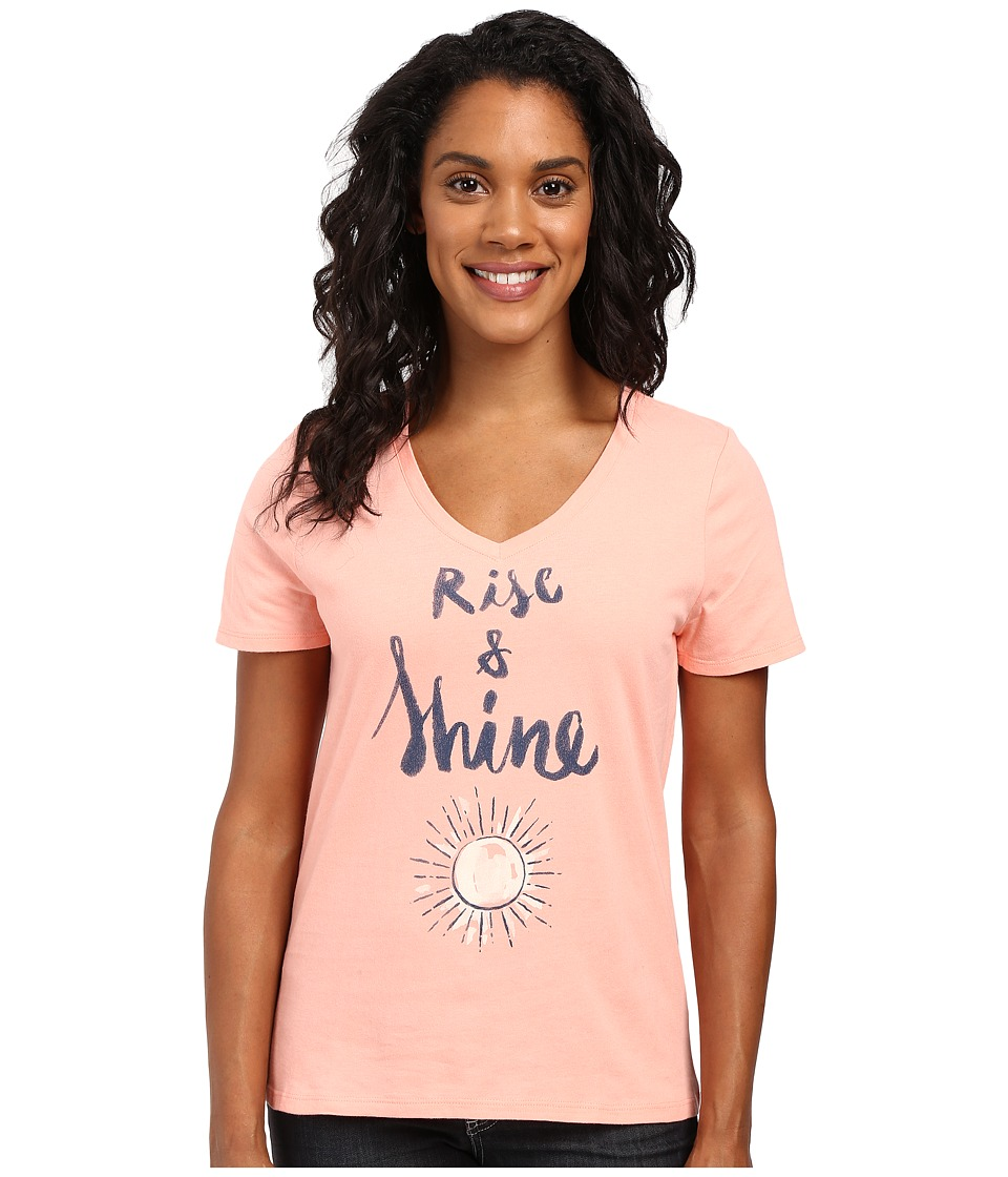 Life is Good - Rise Shine Sun Sleep Vee (Chalky Peach) Women's Pajama