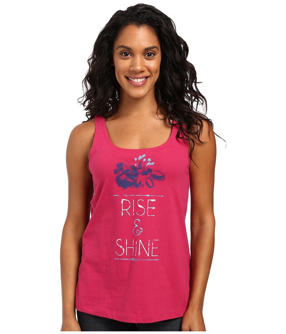 Life is good - Rise Shine Floral Simple Sleep Tank (Rose Berry) Women's Sleeveless