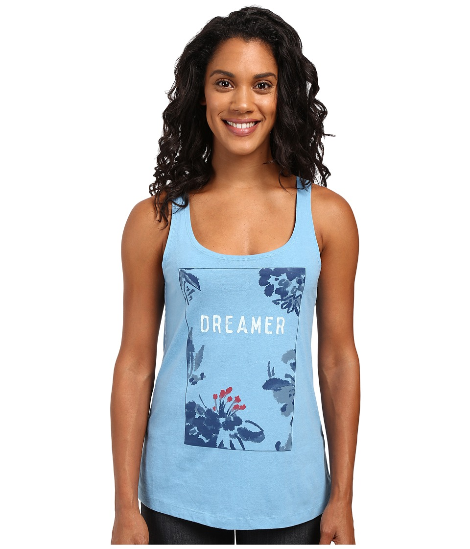 Life is good - Dreamer Floral Simple Sleep Tank (Cloud Blue) Women's Sleeveless