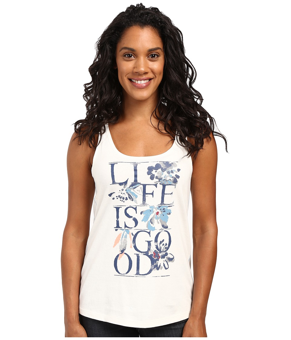 Life is good - Life is Good Floral Simple Sleep Tank (Simply Ivory) Women's Sleeveless