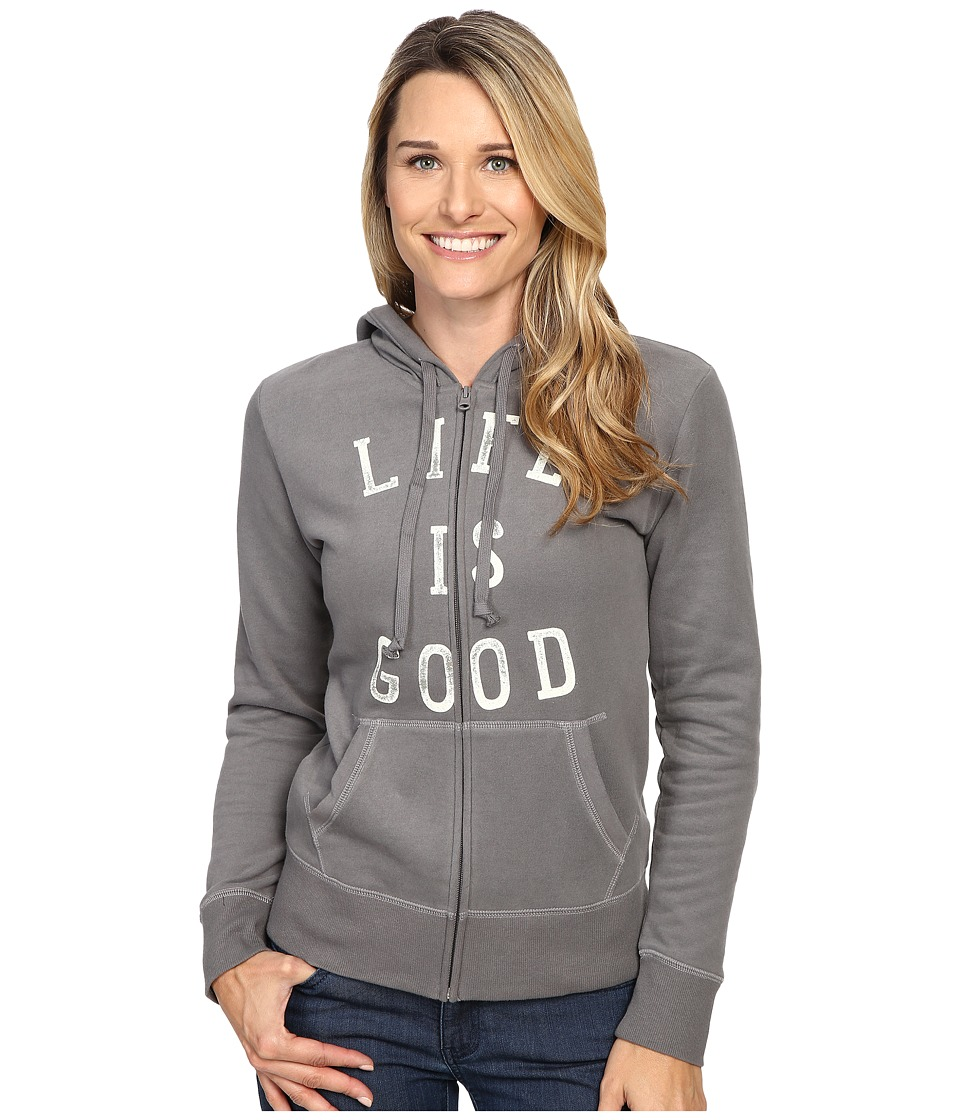 Life is Good LIG Go To Zip Hoodie (Slate Grey) Women