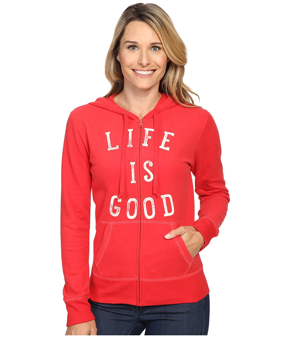 Life is good LIG Go To Zip Hoodie (Simply Red) Women
