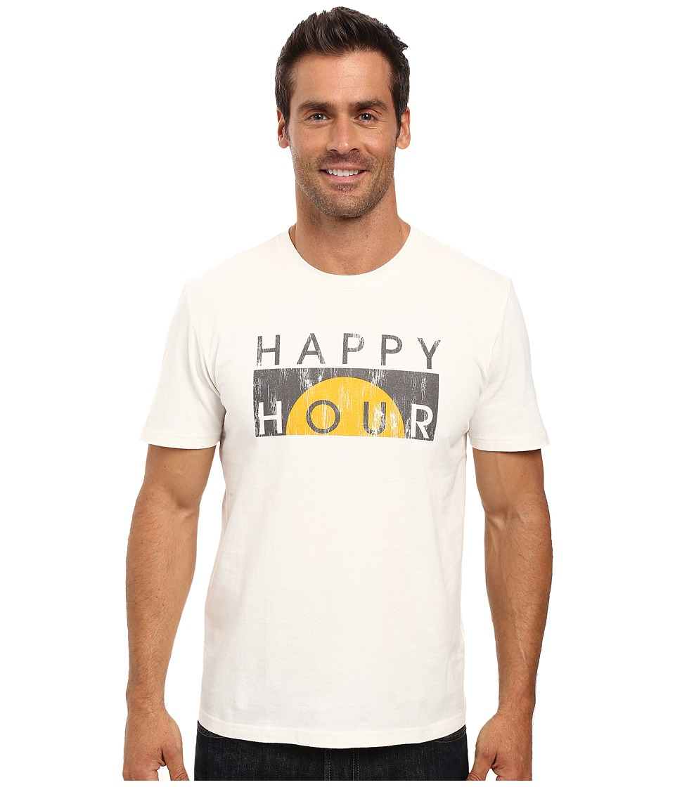 Life is good - Happy Hour Block Sleep Tee (Simply Ivory) Men's Pajama