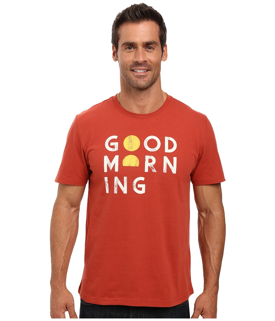 Life is Good - Good Morning Block Sleep Tee (Earthy Rust) Men's Pajama