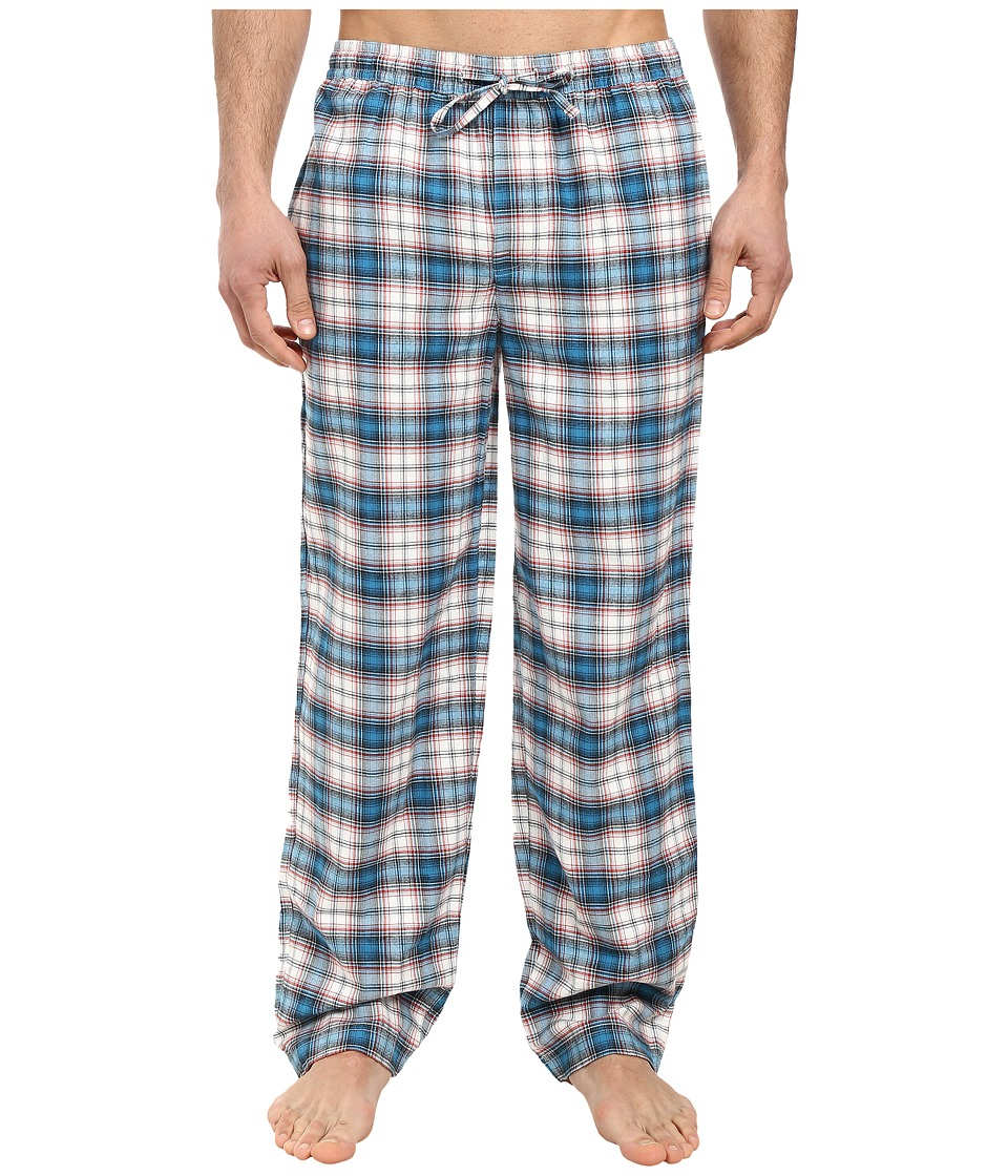 Life is Good - Blue Plaid Classic Sleep Pant (Simply Ivory/Denim Blue Plaid) Men's Pajama