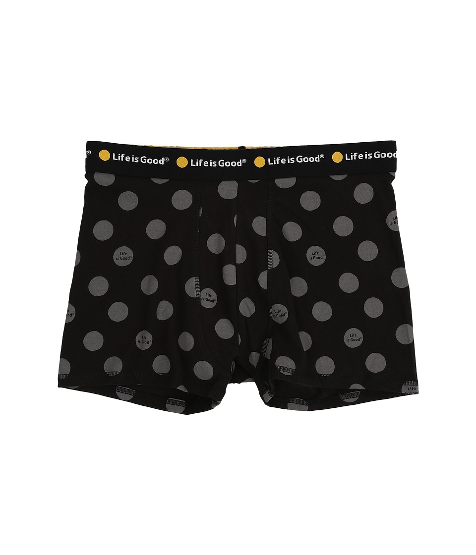 Life is good - LIG Dot Classic Boxer Brief (Night Black) Men's Underwear
