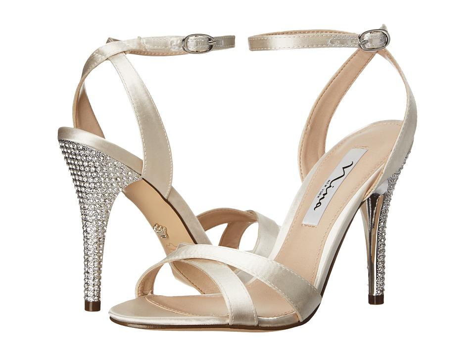 Nina - Meryly (Ivory Satin) Women's 1-2 inch heel Shoes