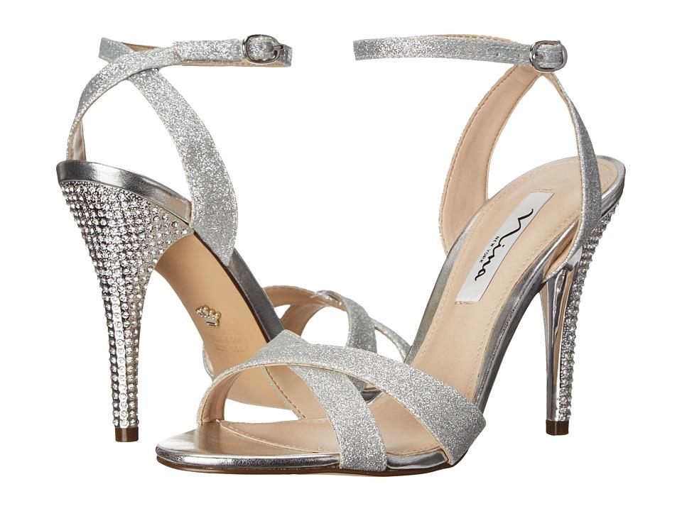 Nina - Meryly (Silver Glitter) Women's 1-2 inch heel Shoes