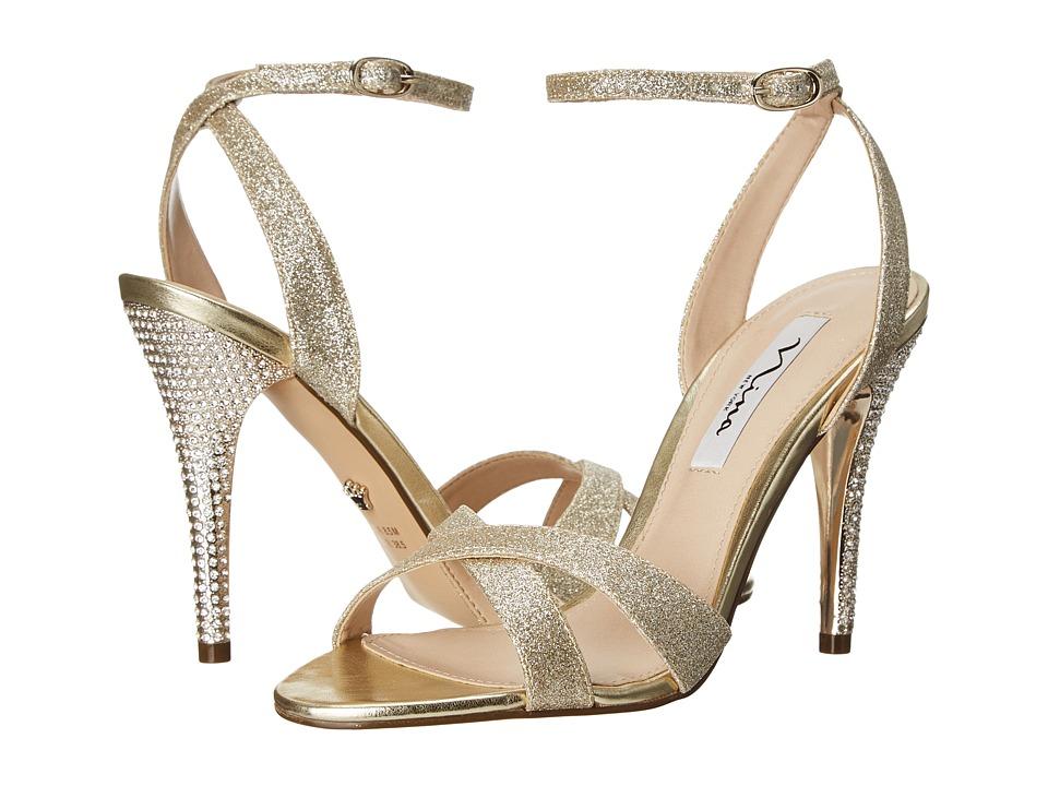 Nina - Meryly (Platino Glitter) Women's 1-2 inch heel Shoes