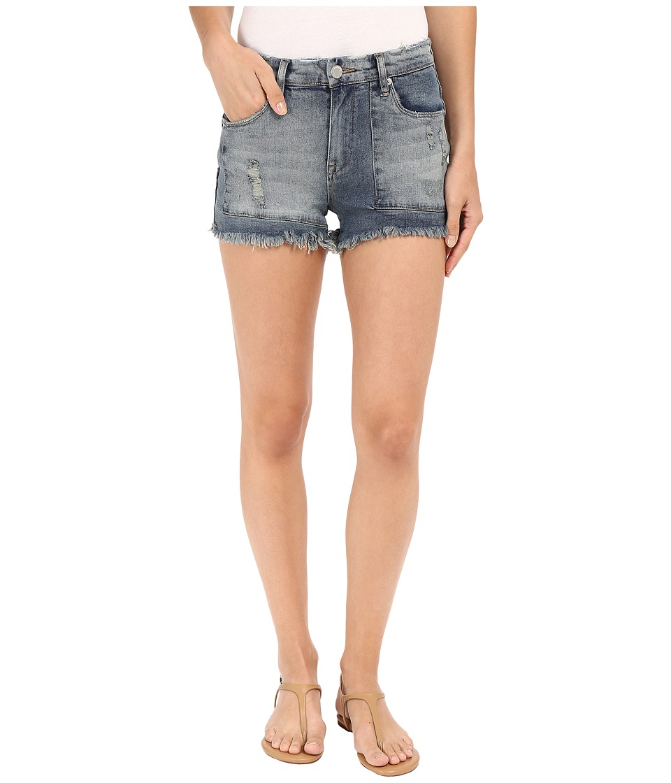 Blank NYC - Patchwork High Rise Shorts in Rough Patch (Blue) Women's Shorts
