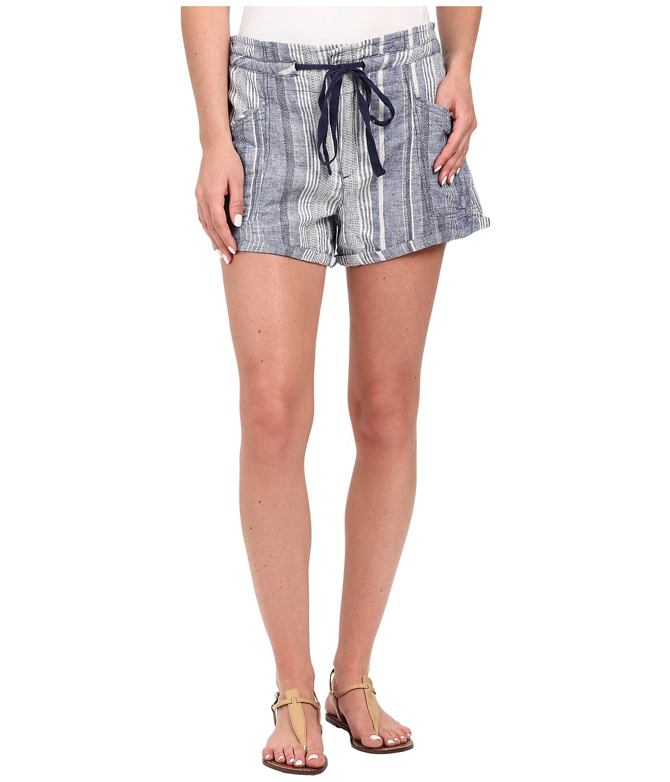 Blank NYC - Striped Drawstring Shorts in Out of Spite (Blue/White) Women's Shorts