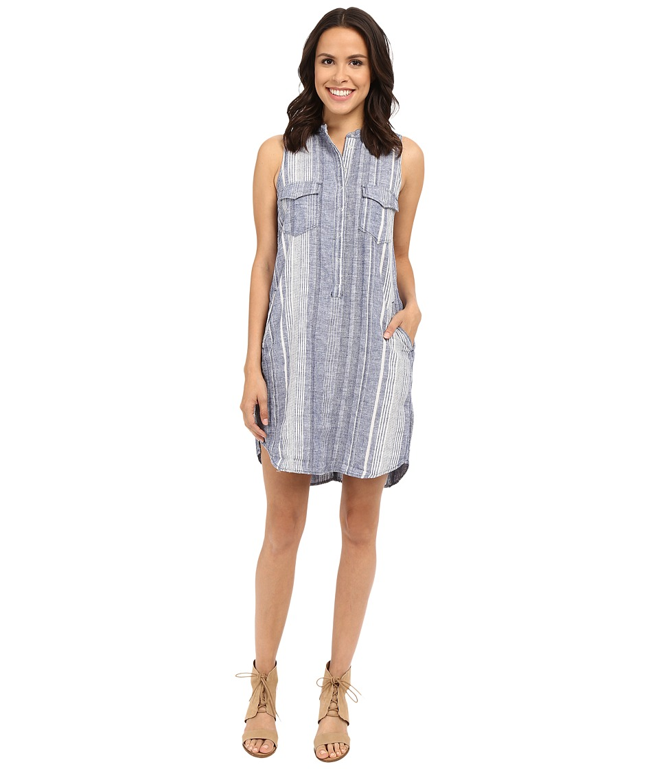 Blank NYC - Striped Sleeveless Linen Dress in Out Of Spite (Blue/White) Women's Dress