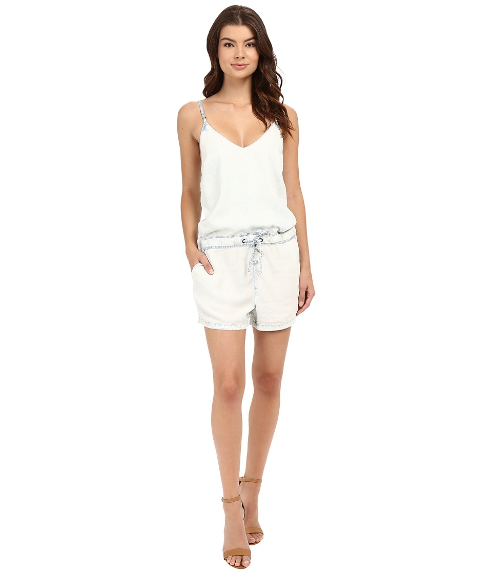 Blank NYC - Bleached Out Tencel Romper in Up In The Air (Blue/White) Women's Jumpsuit & Rompers One Piece