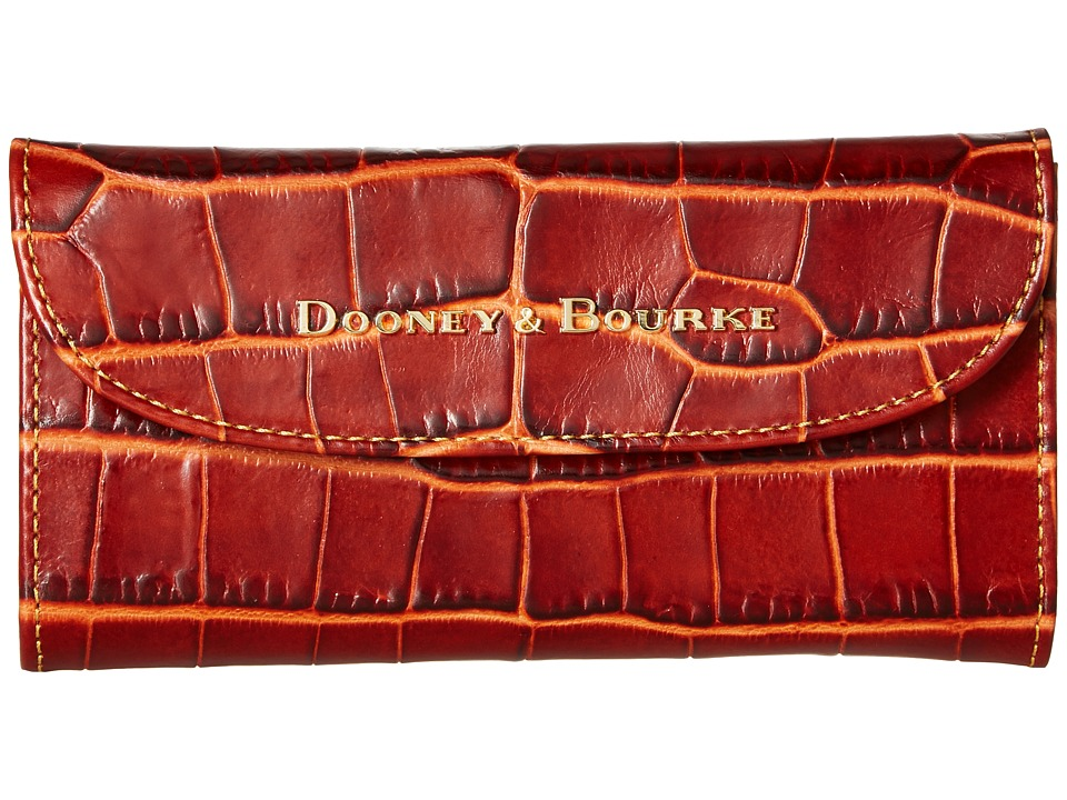 Dooney & Bourke - City Lafayette Continental Clutch (Burnt Orange) Clutch Handbags
