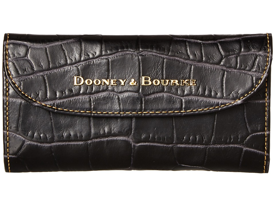Dooney & Bourke - City Lafayette Continental Clutch (Charoal) Clutch Handbags