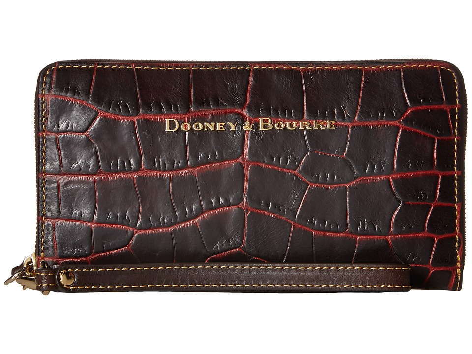 Dooney & Bourke - City Lafayette Large Zip Around Wristlet (Bordeaux) Wristlet Handbags