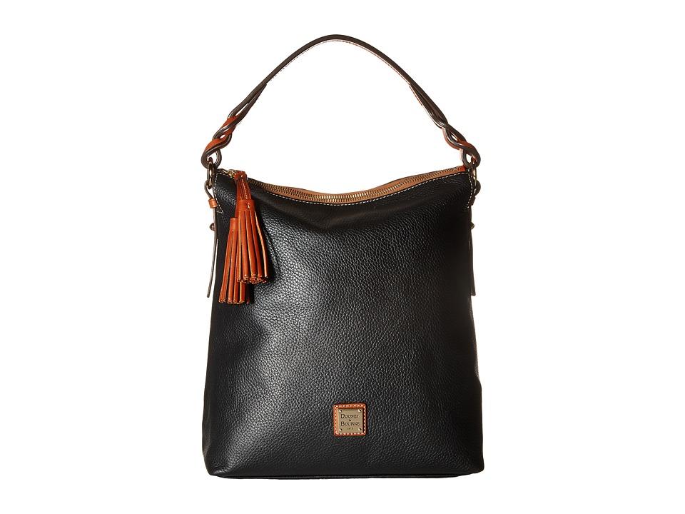 Dooney & Bourke - Pebble Small Sloan (Black) Handbags