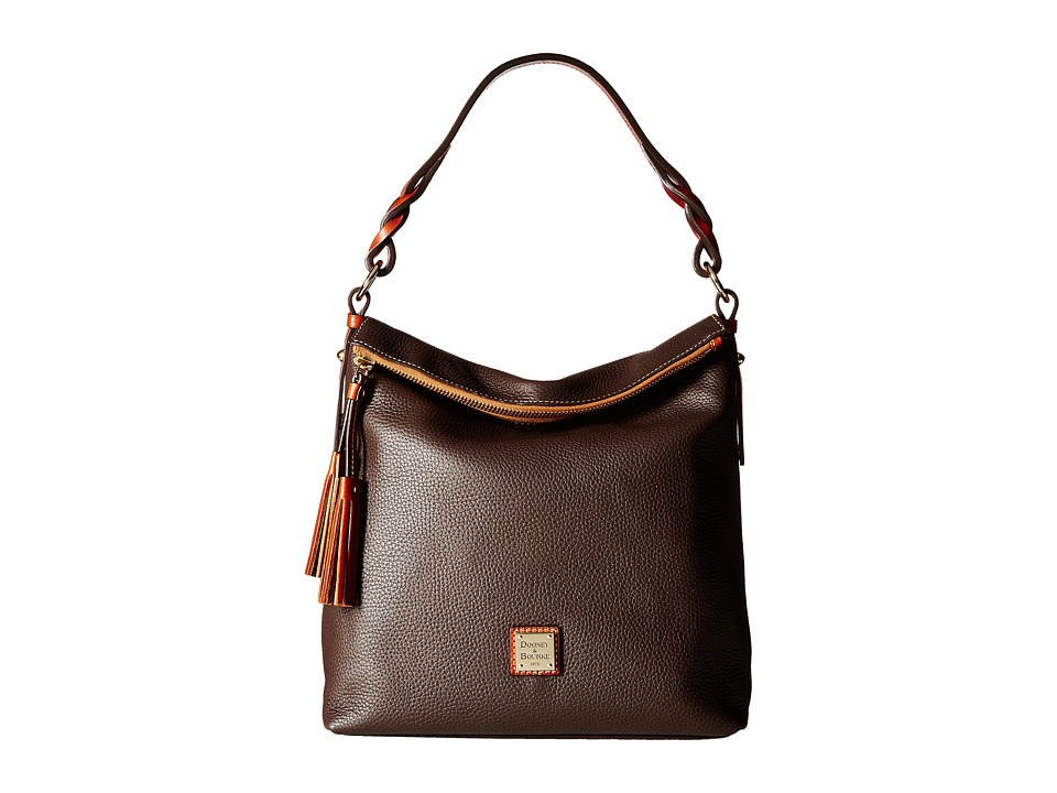 Dooney & Bourke - Pebble Small Sloan (Chocolate) Handbags