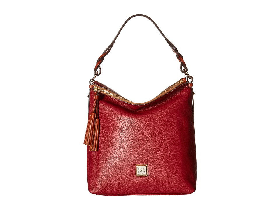 Dooney & Bourke - Pebble Small Sloan (Wine) Handbags