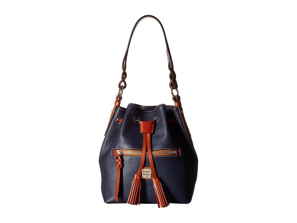 Dooney & Bourke - Pebble Small Logan (Midnight Blue) Handbags