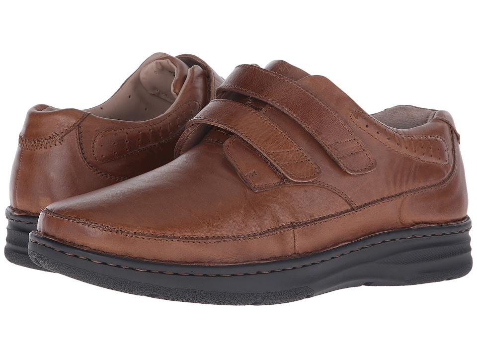 Drew - Mansfield (Brown Leather) Men's Flat Shoes
