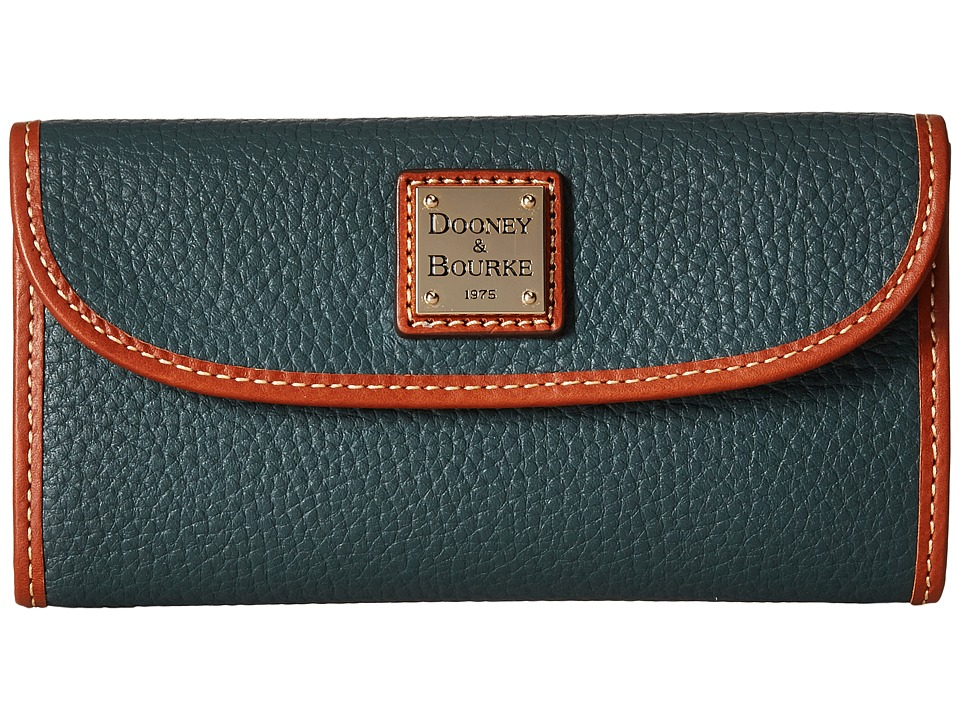 Dooney & Bourke - Pebble Leather New SLGS Continental Clutch (Hunter) Clutch Handbags