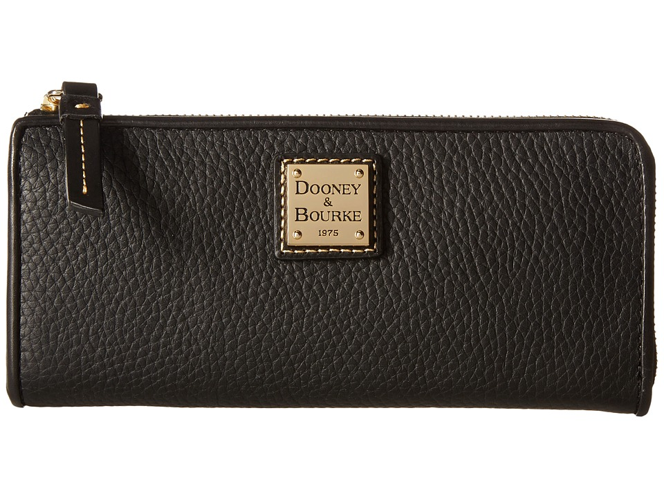 Dooney & Bourke - Pebble Zip Clutch (Black/Black) Clutch Handbags
