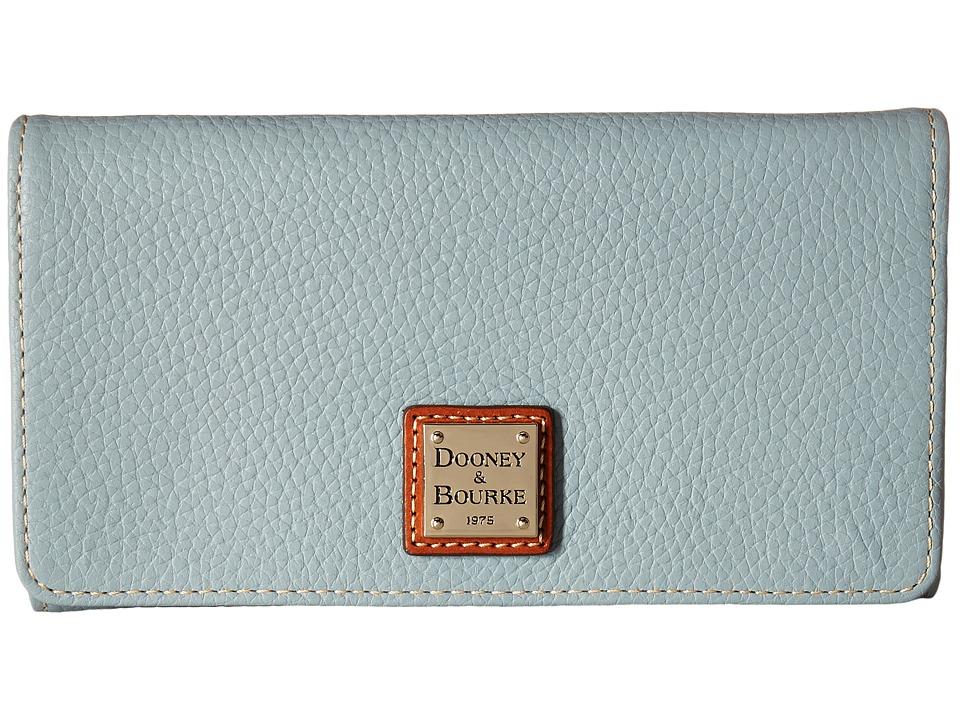 Dooney & Bourke - Pebble Leather Daphne Crossbody Wallet (Heather) Wallet Handbags