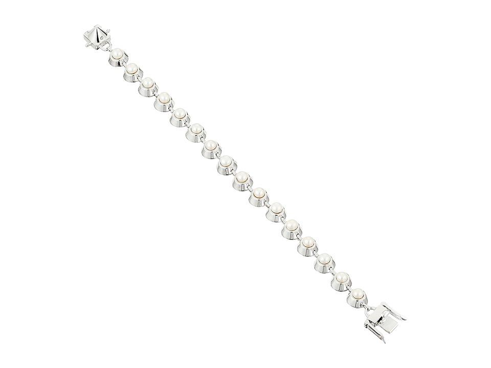 Eddie Borgo - Pearl Cabochon Bracelet (Shiny Plated Brass/Pearl) Bracelet