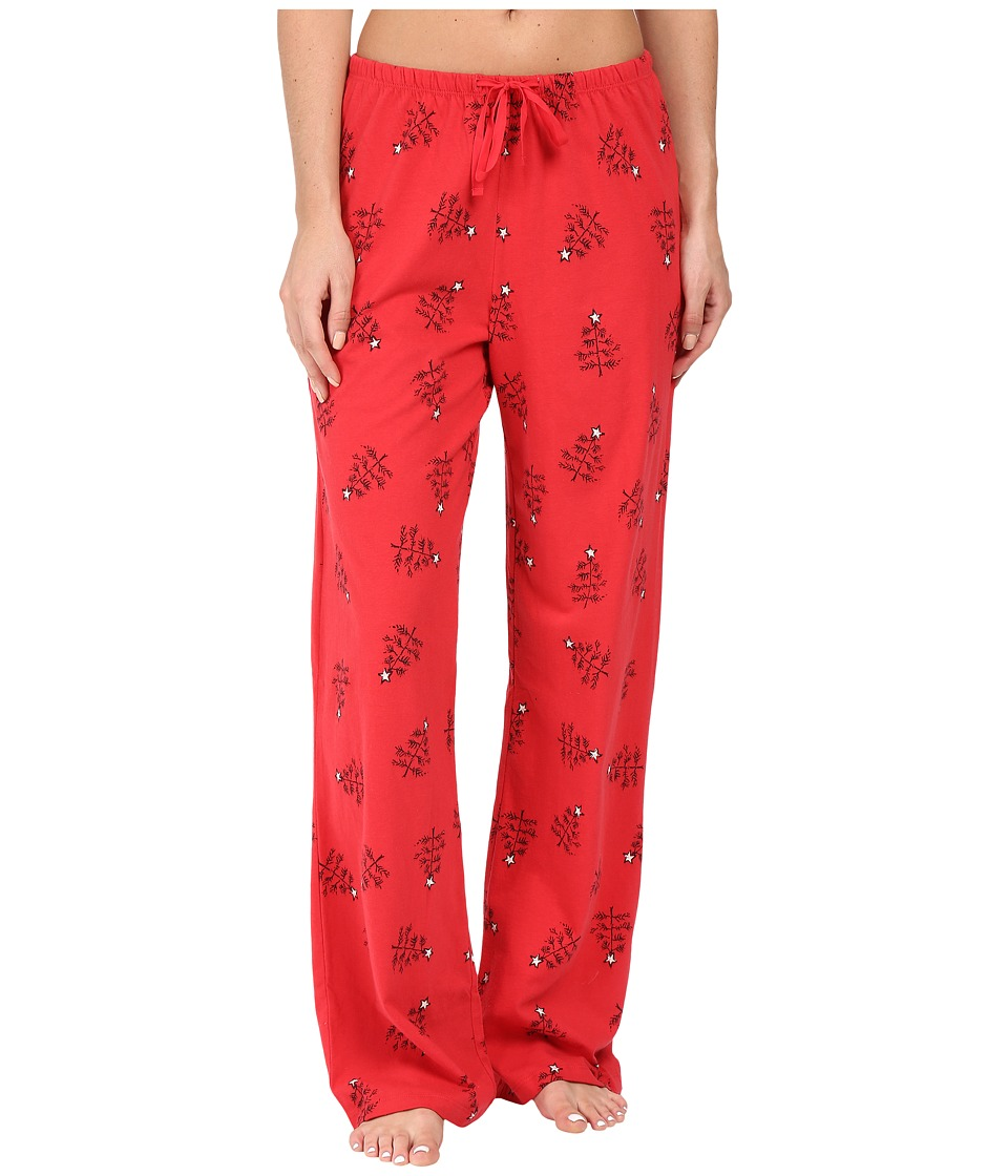 Life is good - Holiday Trees Jersey Sleep Pants (Simply Red) Women's Pajama