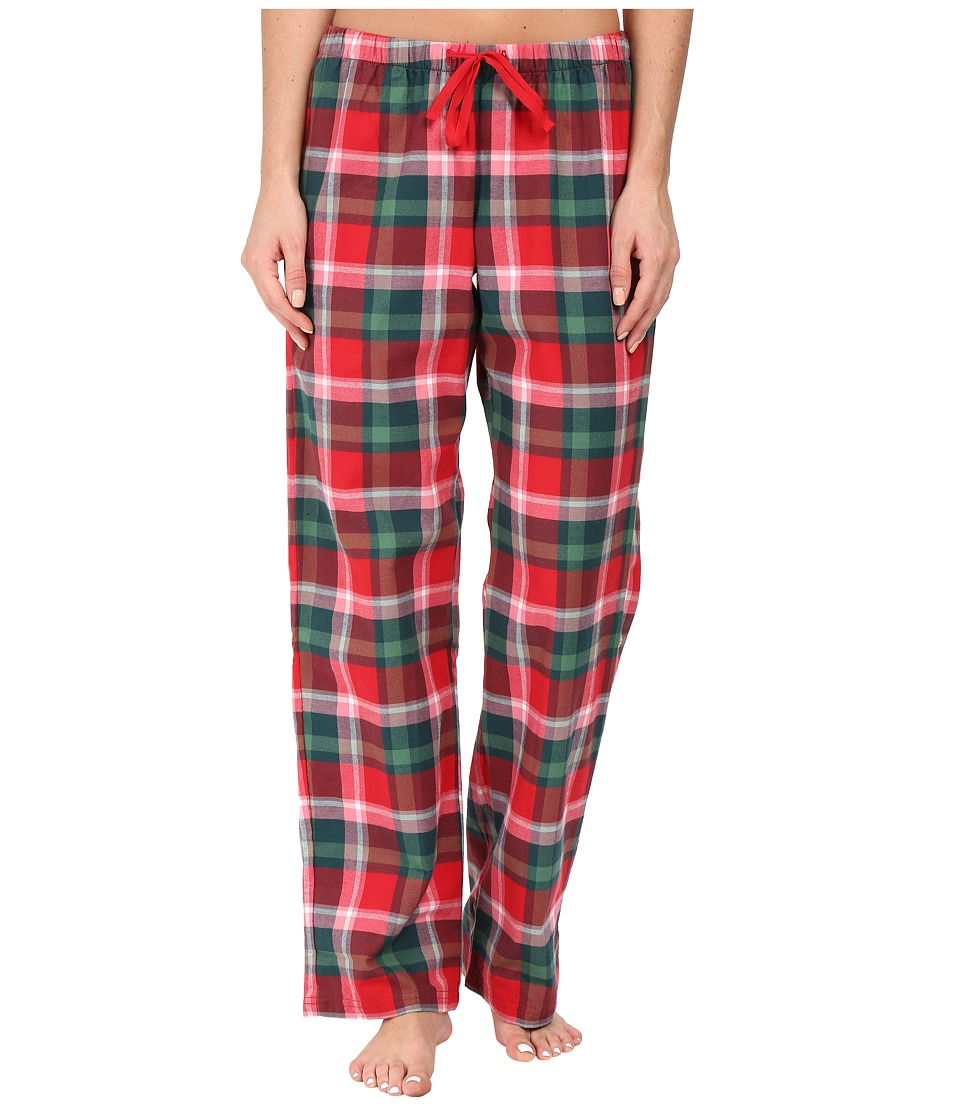 Life is Good - Classic Sleep Pants (Red/Green Plaid) Women's Pajama