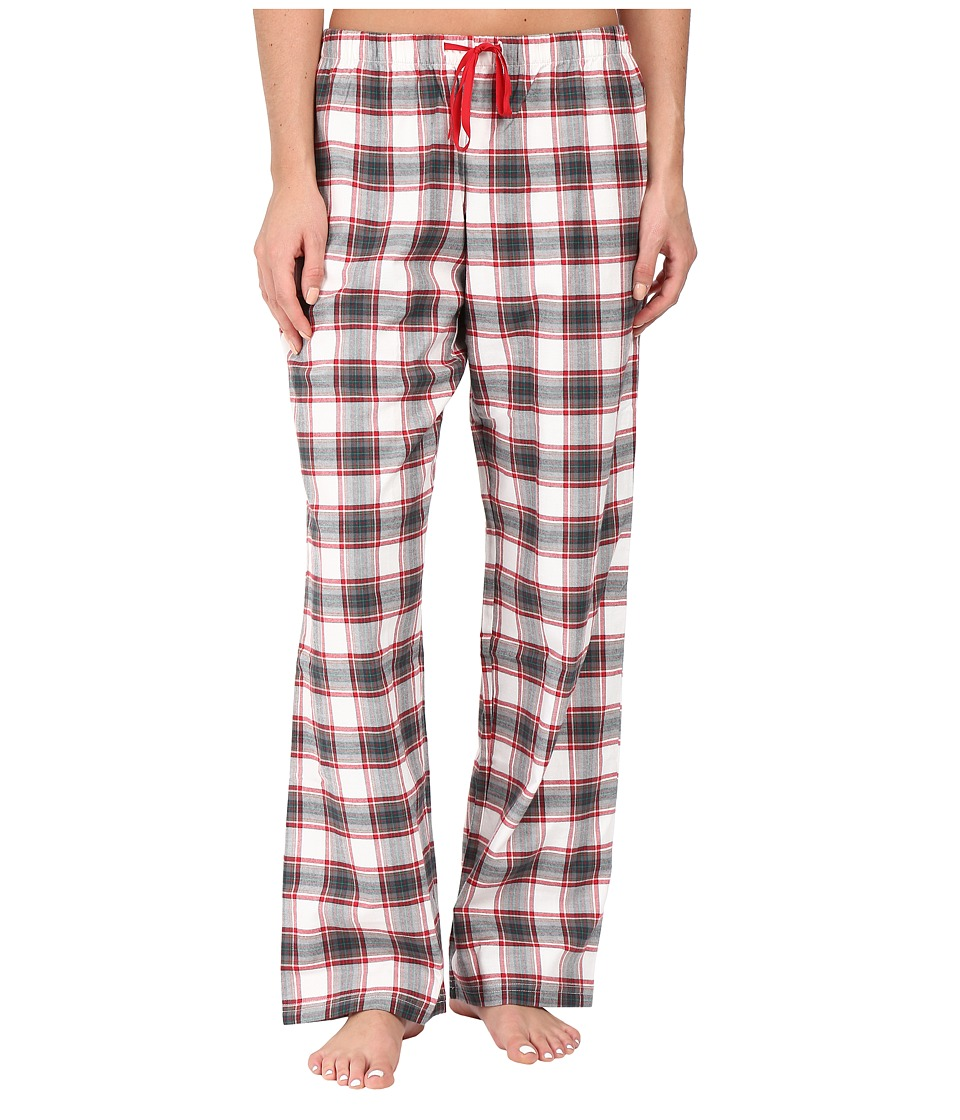 Life is good - Classic Sleep Pants (Ivory/Red Plaid) Women's Pajama